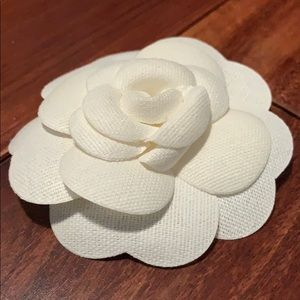 CHANEL Accessories - CHANEL white camellia flower sticker